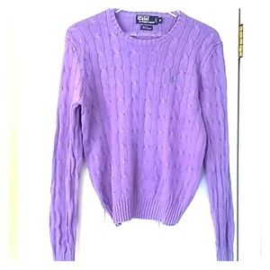 Polo by Ralph Lauren M gable purple sweater P016SW
